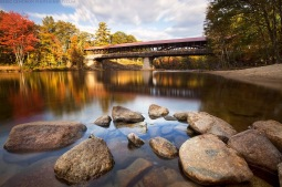 Image result for conway, nh saco river covered bridge